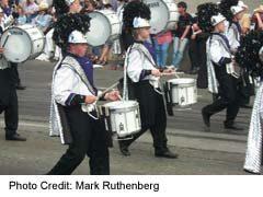 Drummers in Stampede Parade