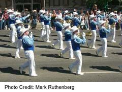 Marching Band in Stampede Parade