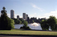 Fountain in Stanley Park's Lost Lagoon