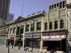Sandstone buildings along downtown's Stephen Avenue