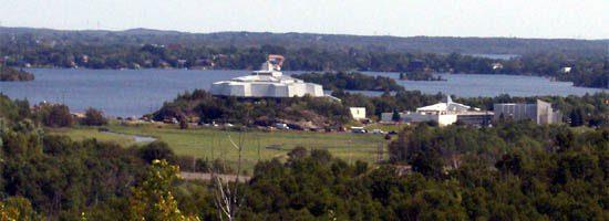 View of Science North and Ramsay Lake