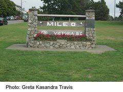 Mile Zero of the Tans-Canada Highway in Victoria