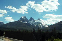 Three Sisters, south of Canmore