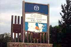You move from Eastern to Central time just west of Kakabeka Falls