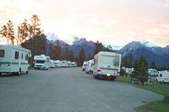Morning at Tunnel Mountain Campground in Banff, Alberta