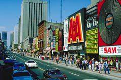 Toronto's famous Yonge Street shopping district