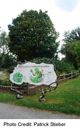 Children's Garden Sign on Toronto Island