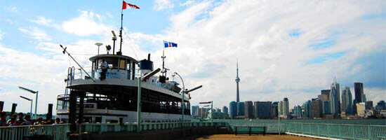 Toronto Skyline viewed with the Island Ferry