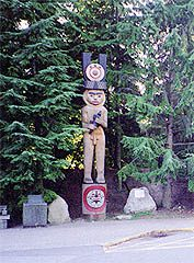 Statue at UBC's museum of Anthropology