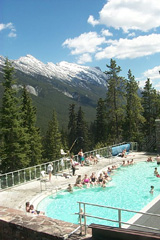 Upper Hot Springs pool, with view