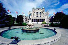 BC Legislature in downtown Victoria