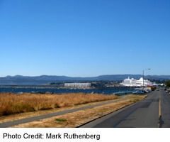 View of James Bay and Cruise Ship Terminal