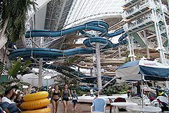 World Waterpark wave pool and waterslide at West Edmonton Mall