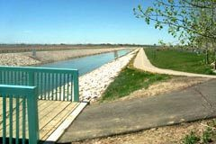 Wstern Irrigation District Bike Path From Chestermere to Calgary