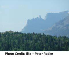 Waterton Lakes where prairies meet mountains