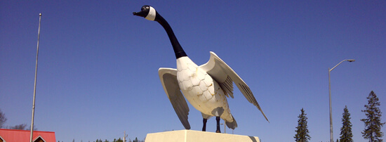 Wawa's Candaa Goose statue, erected for the opening of the Trans-Canada in 1963