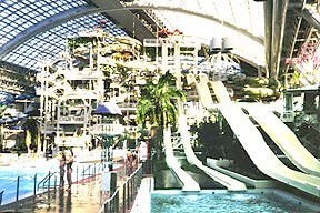 Waterslides and Waterpark at West Edmonton Mall
