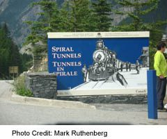 Spiral Tunnels Highway Sign