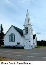 Old church in Cavendish