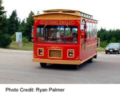 Take the Trolley to the various Canvendish attractions