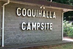 Coquihalla Campsite sign