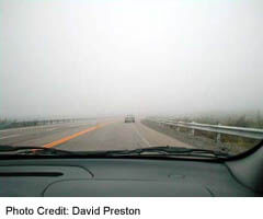 Driving the foggy highway on the Isthmus
