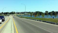 lakeside Causeway oveer Lake Chestermere