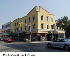 Oshawa's historic downtown area