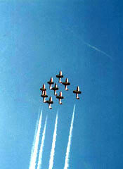 Canada's Snowbirds Aerobatic team is based at CFB Moose Jaw, just south of the Trans-Canada