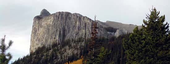 The Rockies have many great trails to hike, this one is Mounta Yamnuska, east of Canmore