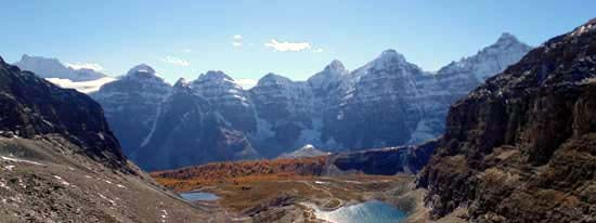 Larch Valley in September is a stunning hike in the Lake Louise area
