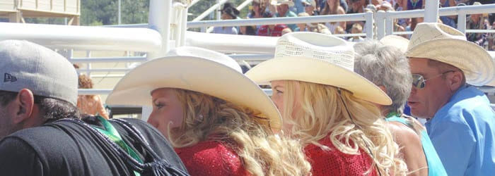 Watch the rodeo from the Grandstand, from the Infield, or from Rush seating/standing