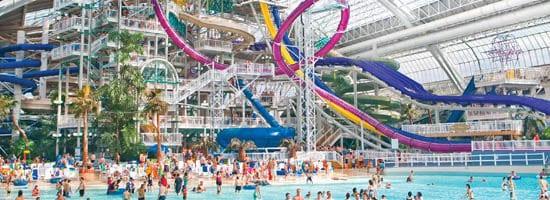 West Edmonton Mall waterpark view