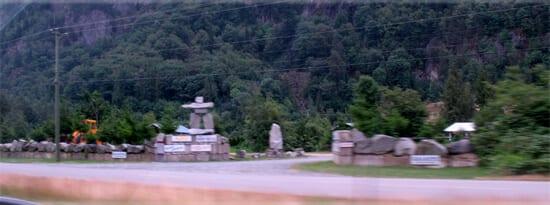 inukchuk at Bridal Veil Falls