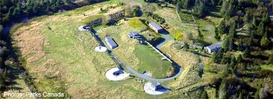 Fort McNab National Historic Site overhead view