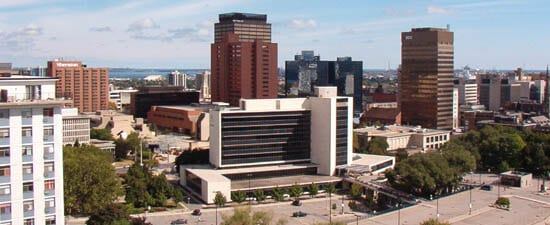 Hamilton Downtown Skyline