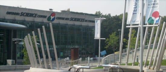 Ontario Science Centre entrance, in North York