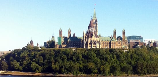View of Parliament Hill from the back
