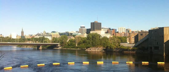 View of Ottawa-Hull from Chaudiere Falls