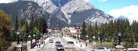 Banff Ave from Park Administration-
