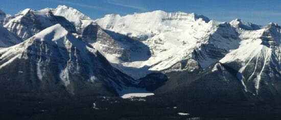 Lake Louise, View from ski hill