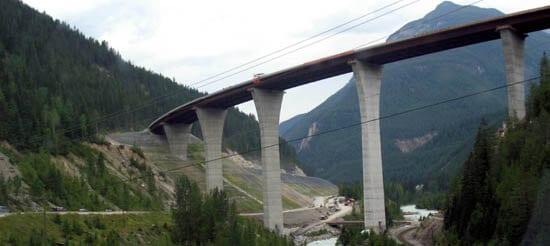 View of Park Bridge from below