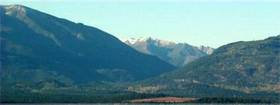 Radium view of Mountains to the west