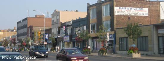 The Danforth Greek Town street view, in Toronto