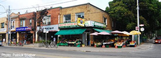 Roncesvalles (at Dundas) Fruit Market and Shops