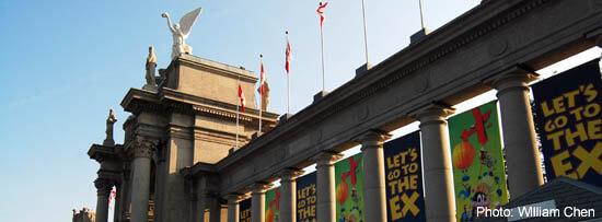 Toronto Exhibition Place-Princess Gates, during the CNE