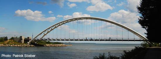 Humber River Bridge in Toronto