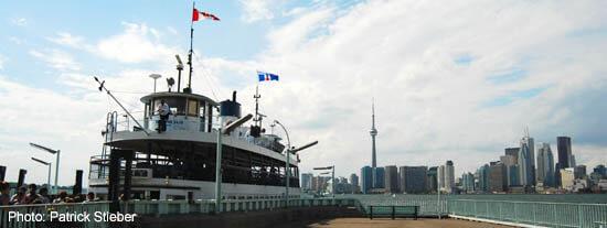 Toronto Island Ferry with City View