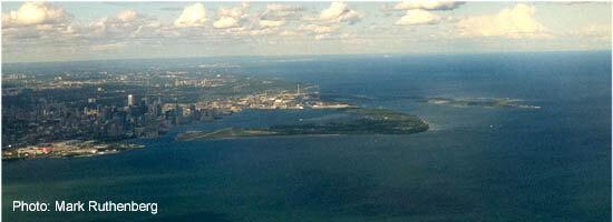 Toronto Islands Aerial View