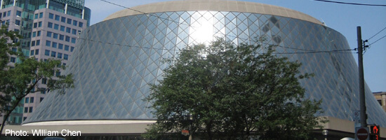 Roy Thomson Hall on King Street and Theatre District